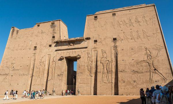 At the Temple of Horus, Edfu