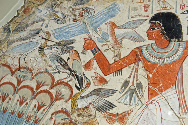 Detail of mural from the tomb chapel of Nebanum, Egypt